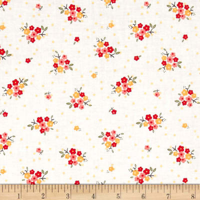 Riley Blake Sweet Prairie Posies White
