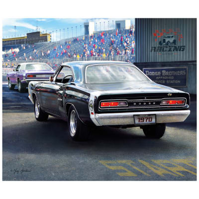 "Riley Blake 1970 Dodge Super Bee 36""Panel Multi"