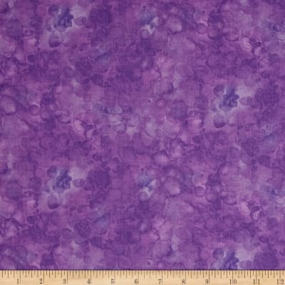 Timeless Treasures Solid-ish Watercolor Texture Grape
