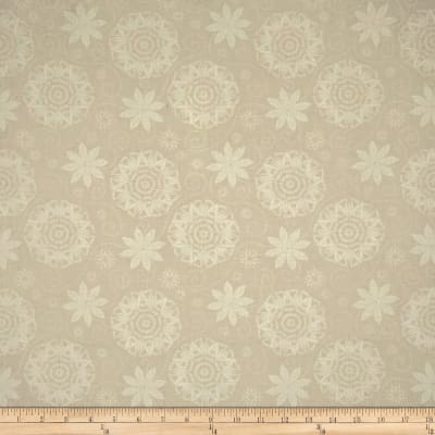 Timeless Treasures Bohemian Blues Quilterly Medallions Medium Taupe