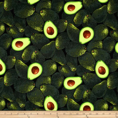 Timeless Treasures Farm Stand Avocados Green