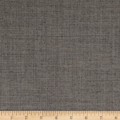Tiny Houndstooth Super 100 Suiting Black/Off-white