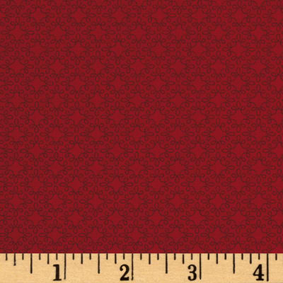 Modern Melody Basic Filigree Geo Crimson Red