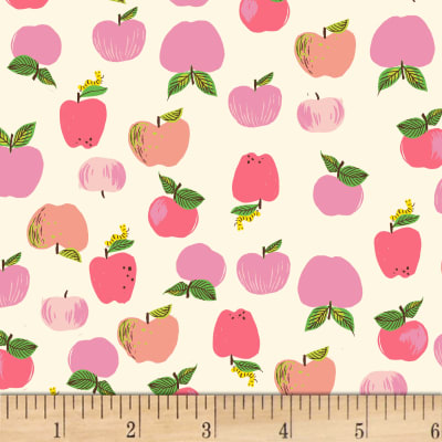 Heather Ross Kinder Apples Pink