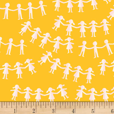 Heather Ross Kinder Paper Dolls Yellow
