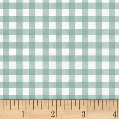 Smitten With Spring Gingham Aqua
