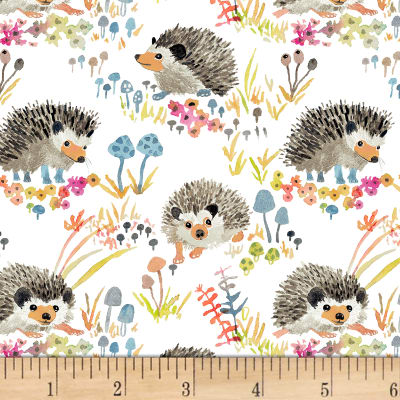 Enchanted Forest  Happy Hedgehogs White