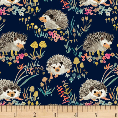 Enchanted Forest  Happy Hedgehogs Navy