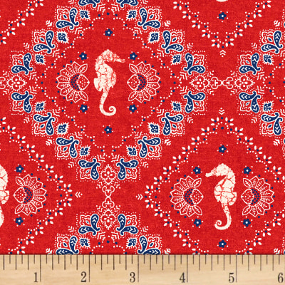 Shoreline  Bandana Red