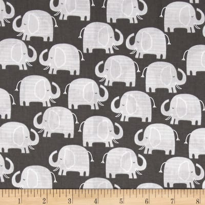 Wild About You  Elephants Charcoal