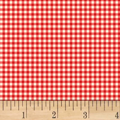 Little Red Riding Hood  Gingham Red