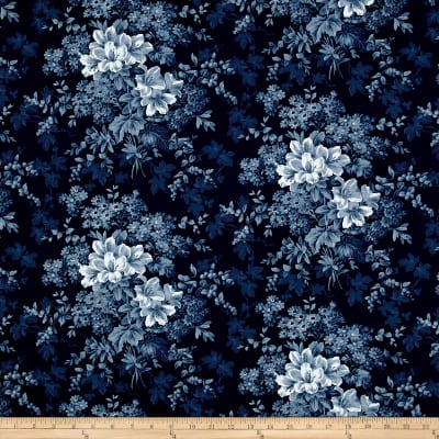 Adele Lilies Navy
