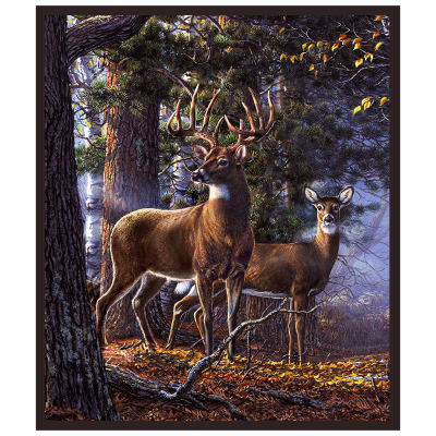 "One Of A Kind White Tail Majesty 36"" Panel Multi"