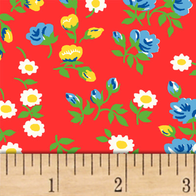 Sugar Sack Mini Floral Red