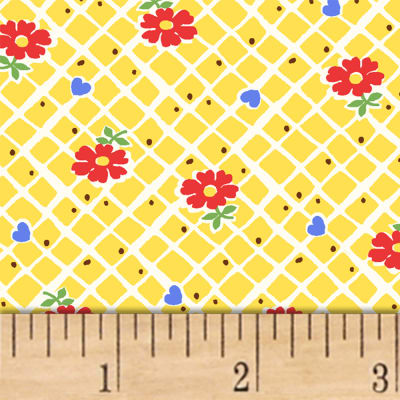 Sugar Sack Floral Check Yellow