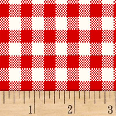 Sugar Sack Gingham Check Red