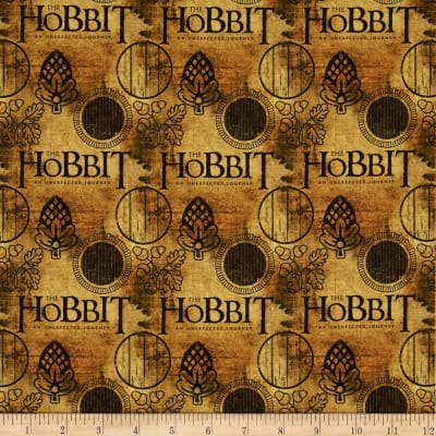 Lord of the Rings Hobbit Logo Brown