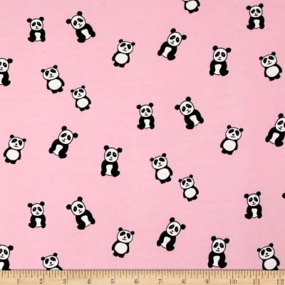 Double Brushed Jersey Knit Panda Pink
