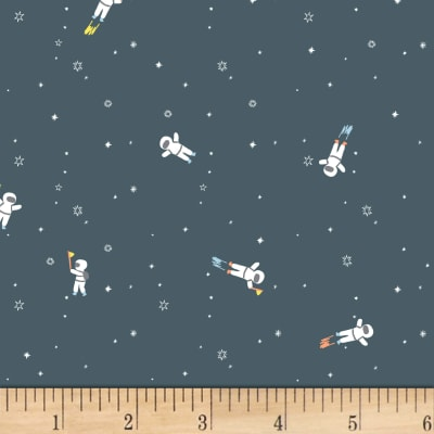 Dear stella flannel gravity astronauts gunmetal discount for Gravity fabric