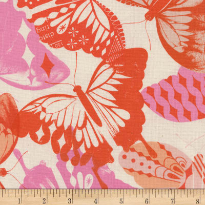 Cotton + Steel Flutter Flutter Orange