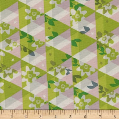 Cotton + Steel Flutter Kaleidoscope Citron