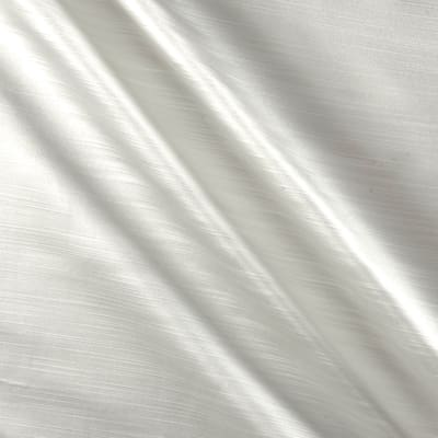 Europatex Royal Slub Satin Drapery White