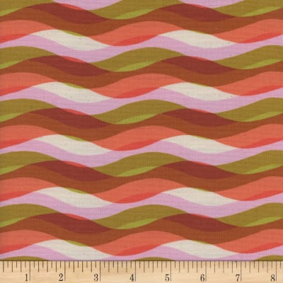 Cotton + Steel Poolside Waves Pink