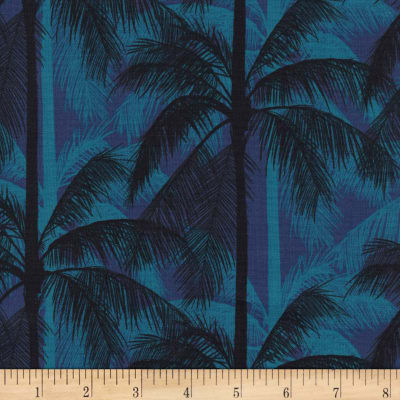 Cotton + Steel Poolside Palms Blue