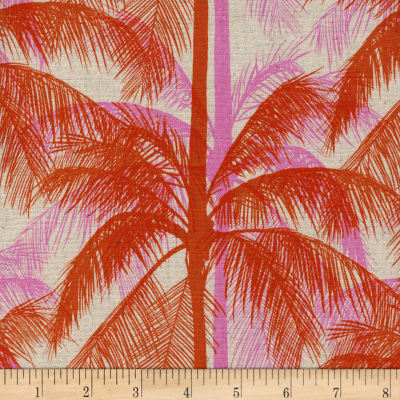 Cotton + Steel Canvas Poolside Palms Pink