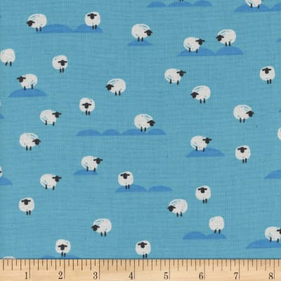 Cotton + Steel Panorama Ocean Sheep Water