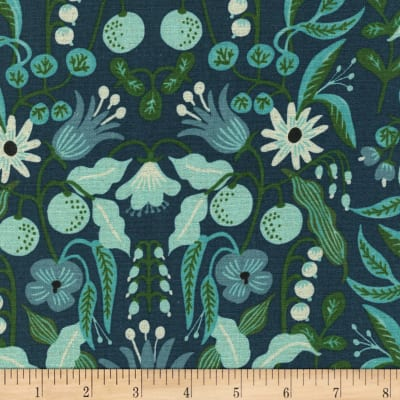 Cotton + Steel Rifle Paper Co. Canvas Amalfi Freja Turquoise