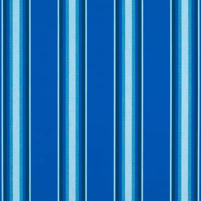 "Sunbrella 46"" Stripes Standard Pacific Blue Fancy"