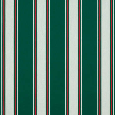 "Sunbrella 46"" Stripes Standard Forest Green Fancy"