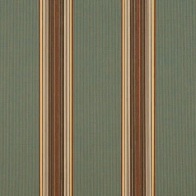 "Sunbrella 46"" Stripes Premium Forest Vintage Bar"