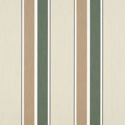 "Sunbrella 46"" Stripes Premium Fern/Heather Beige"