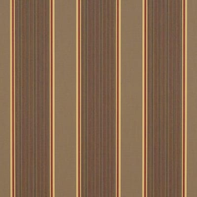 "Sunbrella 46"" Stripes Premium Eastridge Cocoa"