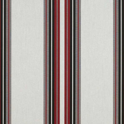"Sunbrella 46"" Stripes Standard Burgundy/Blk/White"