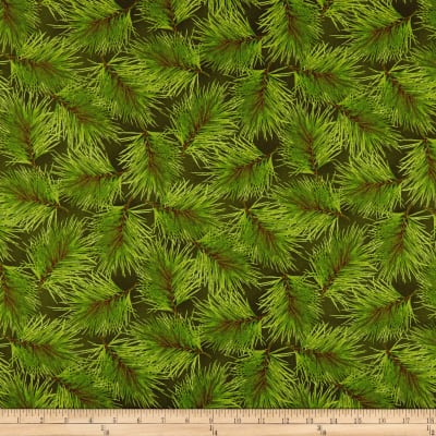 Maywood Studio Poinsettia & Pine Fresh Pine Dark Green