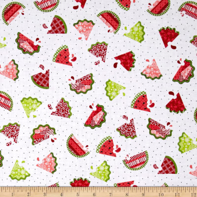 Sprinkle Sunshine Watermelon Patch White