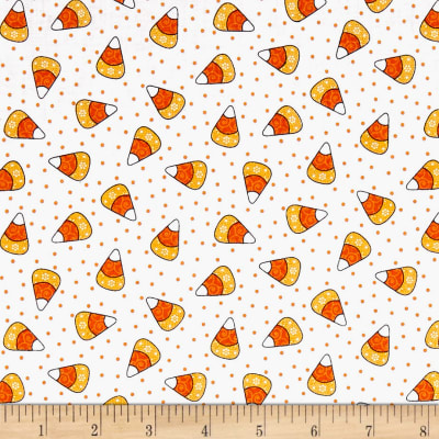 Kimberbell Designs Broomhilda's Bakery Candy Corn Dots Ghostly White