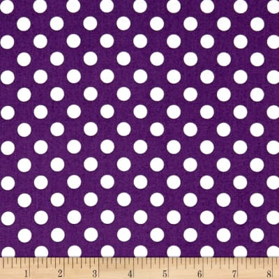 Kimberbell Designs Broomhilda's Bakery Dots Purple White