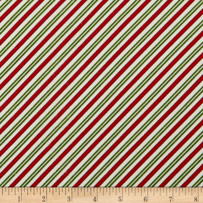 Maywood Studio Christmas Joys Flannel Candy Cane Stripe Red Green