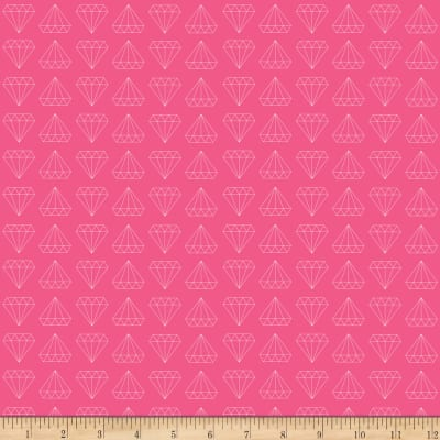 Riley Blake Shine Bright Stretch Cotton Jersey Knit Diamond Pink Knit