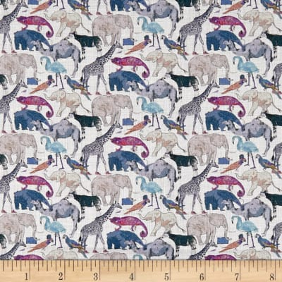 Liberty Fabrics Queue for the Zoo Sycamore Linen