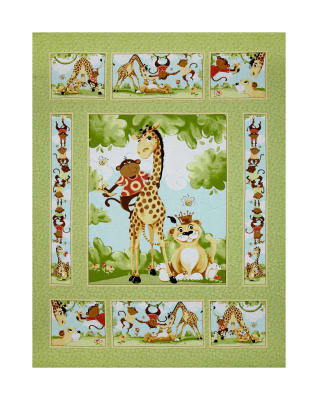 "35.5"" x 44"" Susybee Buddies Panel Green"