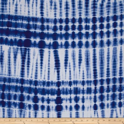 "Wind Cave 6"" Stripe Navy/White Batik"