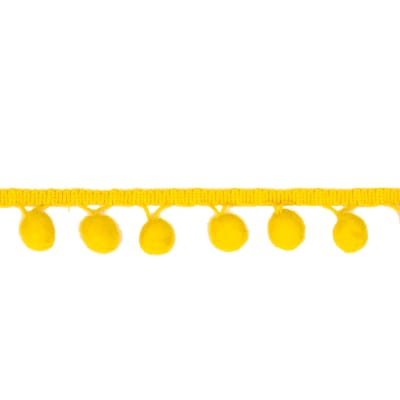 "1 1/2"" Bonita Pom Pom Fringe Trim Yellow"