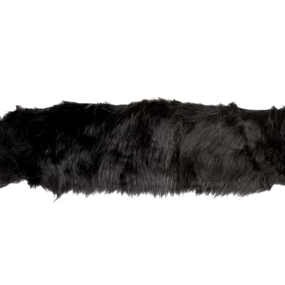 "4"" Faux Fox Fur Trim Black"