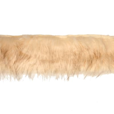 "4"" Faux Fox Fur Trim Natural"