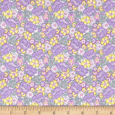 Nana Mae II 1930's Reproduction Packed Floral Lavender